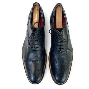 Men's Grenson Black Leather Oxford Shoes Size 9.5